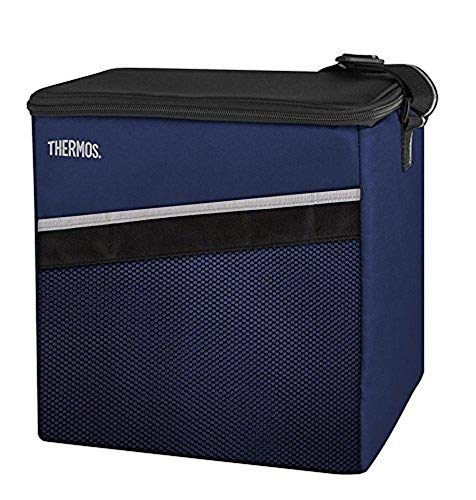 THERMOS Kühltasche Classic medium 15 Liter - Isolierte Einkaufstasche aus Polyester, blau 24 x 27,5 x 28 cm - Faltbare Isoliertasche ideal für Sport, Picknick, Büro, Auto oder Urlaub - 4080.252.150