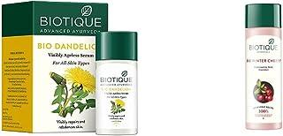 Biotique Bio Dandelion Visibly Ageless Serum, 40 ml and Biotique Bio Wintercherry Lightening & Rejuvenating Body Nourishe...
