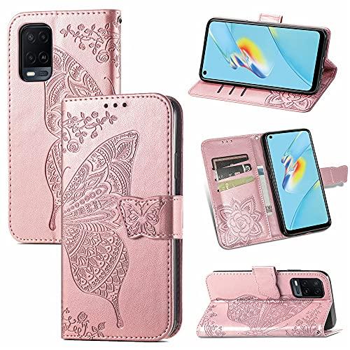 Mariposa teléfono Lanyard Wallet Clip Covers Oppo A54 A 54 Funda de...