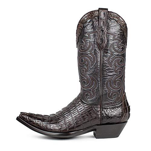 Sendra Boots Texas Caiman Tail Chocolate-42