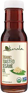 Kevala Organic Toasted Sesame Oil, 8 Ounce (Toasted Sesame oil, Organic, 8oz)