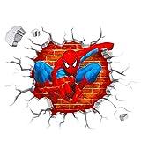 Polly Online 2PCS Spiderman Wandtattoos 3D Wandaufkleber