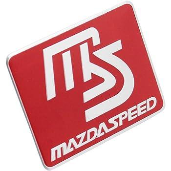 Red MAZDA Carbon Fiber Front Body Trunk Rear Side Badge Emblem Sticker SL