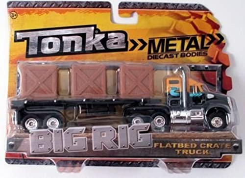 descuentos y mas Tonka Tonka Tonka Metal Diecast Bodies, Big Rig. Flatbed Crate Truck. 1 55th Scale. by Tonka  hasta 42% de descuento