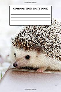 Composition Notebook: Sketch Book, White Hedgehog, Notebook for Coloring Drawing and Writing (110 Pages, Unlined, 6 x 9)