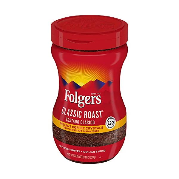 Folgers Classic Roast, Instant Coffee Crystals, 8 Oz