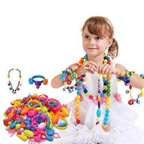 Wishtime 女の子 ビーズ アクセサリー ビーズキット ハンドメイド ブレスレット 女の子 おもちゃ 人気 (180pcs) メイキングトイ 女の子