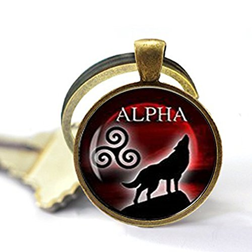 Alpha Keychain teen wolf Keychain teen wolf jewelry I am the alpha Keychain wolf jewelry blood full moon Keychain celtic Triskele jewelry