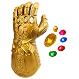 XXF New Infinity Gauntlet for Kids, Iron Man Glove LED with Removable Magnet Infinity Stones-3 Flash mode.(Kids)