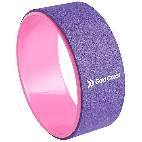Gold Coast Premium Yoga Ruota per esercizi per stretching, migliorare la flessibilità, rinforzare ed equilibrare e rilasciare dolore, tensioni muscolari e stress.