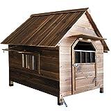 Refuge pour Animaux Pet Dog House Cat House Niche Usage extérieur Usage intérieur Pet Abri for Les Chiots et Les Chiens Château Chat (Couleur : Marron, Taille : 88x77x81cm)