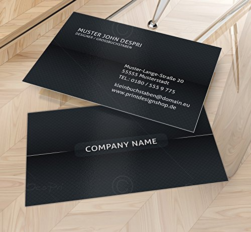 Visitenkarten - Online gestalten! Despri VK024, Anthrazit, 250 Stück, glänzend