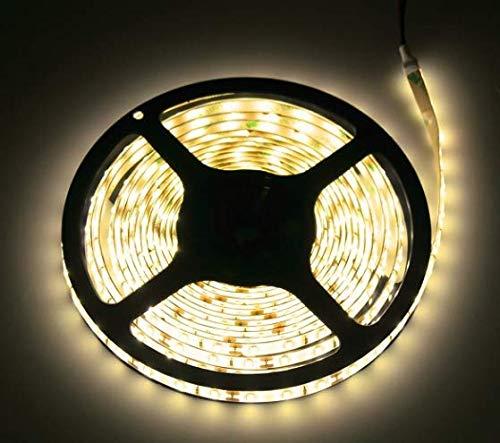 Hava Ruban LED extérieur 12 V à intensité variable IP45, pour pièces extérieures humides, 30 W 2500LM, 300 x SMD 3528 60SMD/M, autocollant, blanc chaud (3000 K)