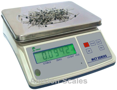 3.3 LB x 0.0001 LB / 1.5 KG x 0.05 Gram Medium (10 x 7.5 Inch Tray) Counting Scale Coin Parts Inventory Paper Piece by…