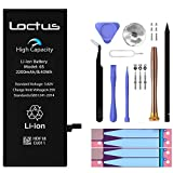2200mAh Replacement High Capacity Battery for iPhone 6S with Repair Kit Installation Manual Spare Screws and Extra Set of Adhesives by Loctus-Blockchain