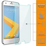 Saxonia 2 Stück Bildschirmschutz Folie kompatibel mit HTC One A9s Bildschirmschutzfolie aus gehärtetem Glas Schutzglas Glasfolie Schutzfolie | HD Klar Transparent