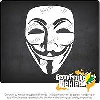 匿名マスク Anonymous mask 15cm x 11cm 15色 - ネオン+クロム! ステッカービニールオートバイ