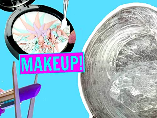 Mixing Makeup Into Clear Slime!