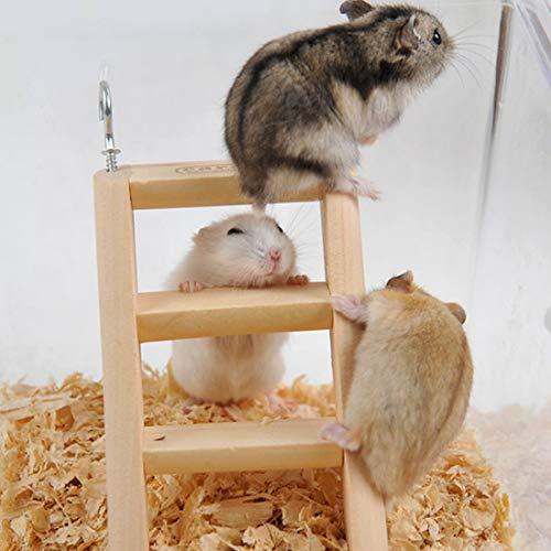 Huisdier benodigdheden Hamster speelgoed Houten Ladder Klimmen, Willekeurige Kleur Levering, Afmetingen: 15 * 7 * 2 cm Huisdier geliefde geschenk