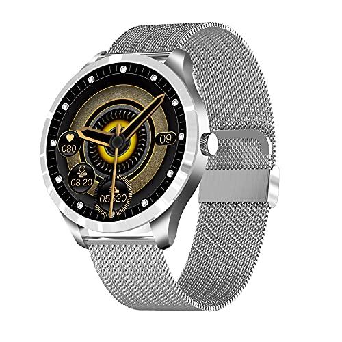 Reloj Inteligente Q9L,Pulsera Inteligente Con Pantalla Táctil Completa De 1,3 ',Monitores De Actividad Física Con Monitor De Frecuencia Cardíaca,Para Teléfono Android / Ios,Diseñado Para Mujeres,Plata