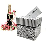 """Elegant black and white filigree pattern 1 Box per package Measures: 10"""" x 10"""" x 10"""" Simple assembly required Sophistication with a touch of class , ideal way to receive wedding cards, gifts and money"""