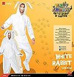 Smiffys, Unisex Hasen Kostüm, All-in-One mit Kapuze und Nase, Größe: M, 43388