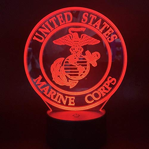 Lamps Changing colorLed Night Light United States Marine Corps Logo for Office Home Decorative Gift Adult Soldier Bedroom Nightlight Lamp 3D HKSM007