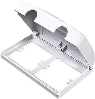 Waterproof White Double Socket Protector Electric Plug Cover Splash Box