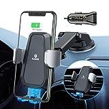 Handyhalter fürs Auto Wireless Charger ( Kit mit QC 3,0 ) Lüftung & Armaturenbrett Kompatible 7,5W/10W Fast Charging elektrische Ladestation ultra stabil für Samsung S10/S10+/S9 iPhoneXS/X/8 Usw -