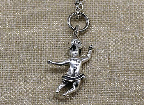 925 Silver Pendants For Women,Fashion Vintage Chainless Punk Style Rock Man Skull Bone Shape Charm Pendant Unisex Jewelry Accessory Birthday Present Party Accessories