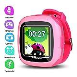 Reloj inteligente para niños [10 juegos] [reloj despertador] [podómetro] [cámara] reloj inteligente para niños – buen cumpleaños para niños y niñas