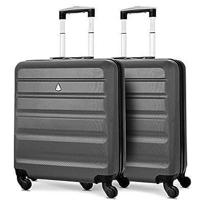 Aerolite 56x45x25 Taille Maximum Easyjet / Jet2 / British Airways ABS Bagage Cabine à Main Valise Rigide Léger 4 roulettes