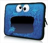 Funky Planet 15'-15,6' Pulgadas Maletín para Computadora Portátil de Funda Protectora Bolsa de Neopreno Resistente al Agua Portátil de Bolsillo Tableta Maletín Multicolor Bolsas Estuches