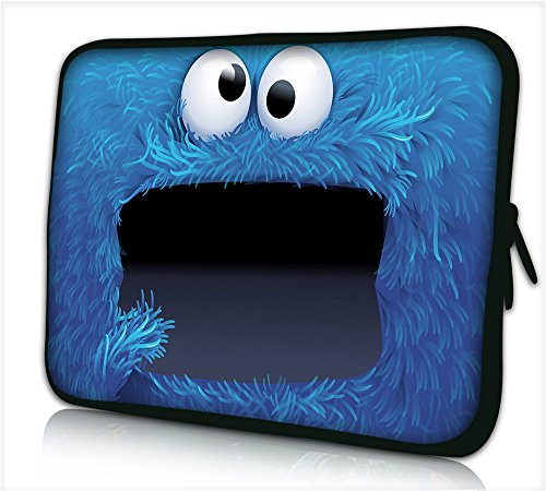 "Funky Planet 17""-17,3"" Zoll Tablet Laptop Tasche Schutzhülle Bags/Cases (17 ETUI Cookie Monster)"