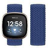 Vozehui Compatible con correa Fitbit Sense/Fitbit Versa 3, banda de repuesto elástica de nailon suave y transpirable para Fitbit Versa 3/Fitbit Sense,...