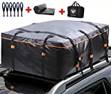 Waterproof Rooftop Cargo Carrier - Heavy Duty Roof Top Luggage Storage Bag with Anti-slip Mat + 10 Reinforced Straps + 6 Door Hooks - Perfect for Car, Truck, SUV, Van With/Without Rack - 15 Cubic Feet