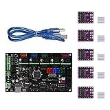 KINGPRINT MKS Gen V1.4 Controller Board+5PCS DRV8825 Stepper Motor Mega 2560 Motherboard RepRap Ramps1.4 Compatible +USB Cable for 3D Printer