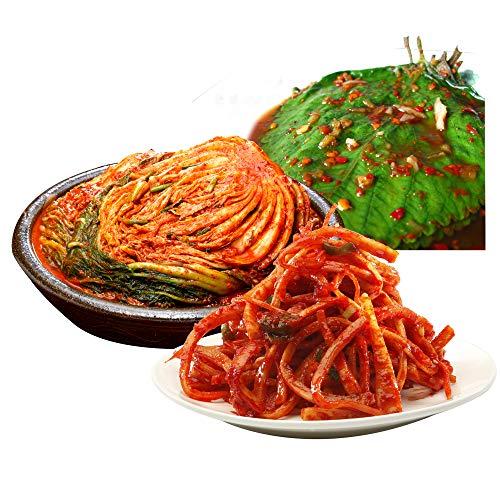 【三口一品mikuchi】お中元 白菜キムチ1kg/えごまの葉キムチ215g/桔梗キムチ215g 送料無料【冷蔵便発送】ギフト