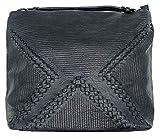 Phil Modische Handtasche mit Flechtmuster, mit großem Hauptfach und mehrere Innentaschen, Shopper Tasche Shopperbag Umhängetasche (10031)