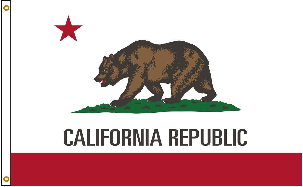 FORTISVEX California Alternative dealer 6ftx10ft Nylon State Made Japan's largest assortment in USA Flag 6x10