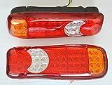 2luces LED de cola traseras de 24 V para chasis de camión volquete, remolque o caravana.