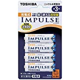 TOSHIBA ニッケル水素電池 充電式IMPULSE 高容量タイプ 単3形充電池(min.2,400mAh) 4本 TNH-3A 4P (2個セット)