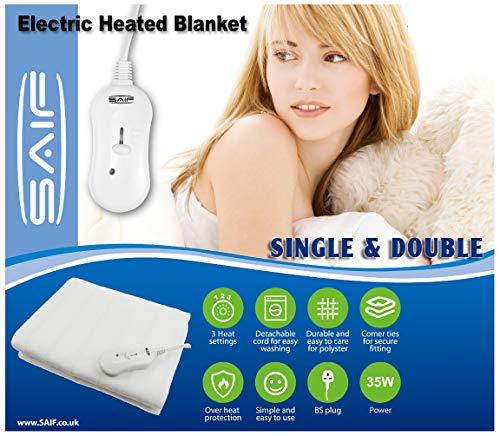 Electric Blanket Heated Under Bed Comforter Control Super Cosy Washable...