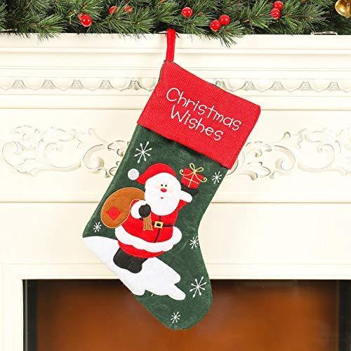 Medias de Navidad, Lypumso Calcetines de Papá Noel, Calcetines Colgantes, Decoración del árbol de Navidad,...