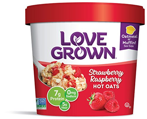 Love Grown Strawberry Raspberry Hot Oats, 2.22 oz. Cup