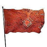 Banderas para jardín Circuit Board colores vivos y a prueba de decoloración banderas con dos ojales metálicos Gran Bandera 150x90 cm
