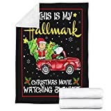 iBedding Hallmark Christmas Movie Premium Throw Blanket Soft Flannel Blankets for All Seasons for Couch Bed Sofa 51'x59'