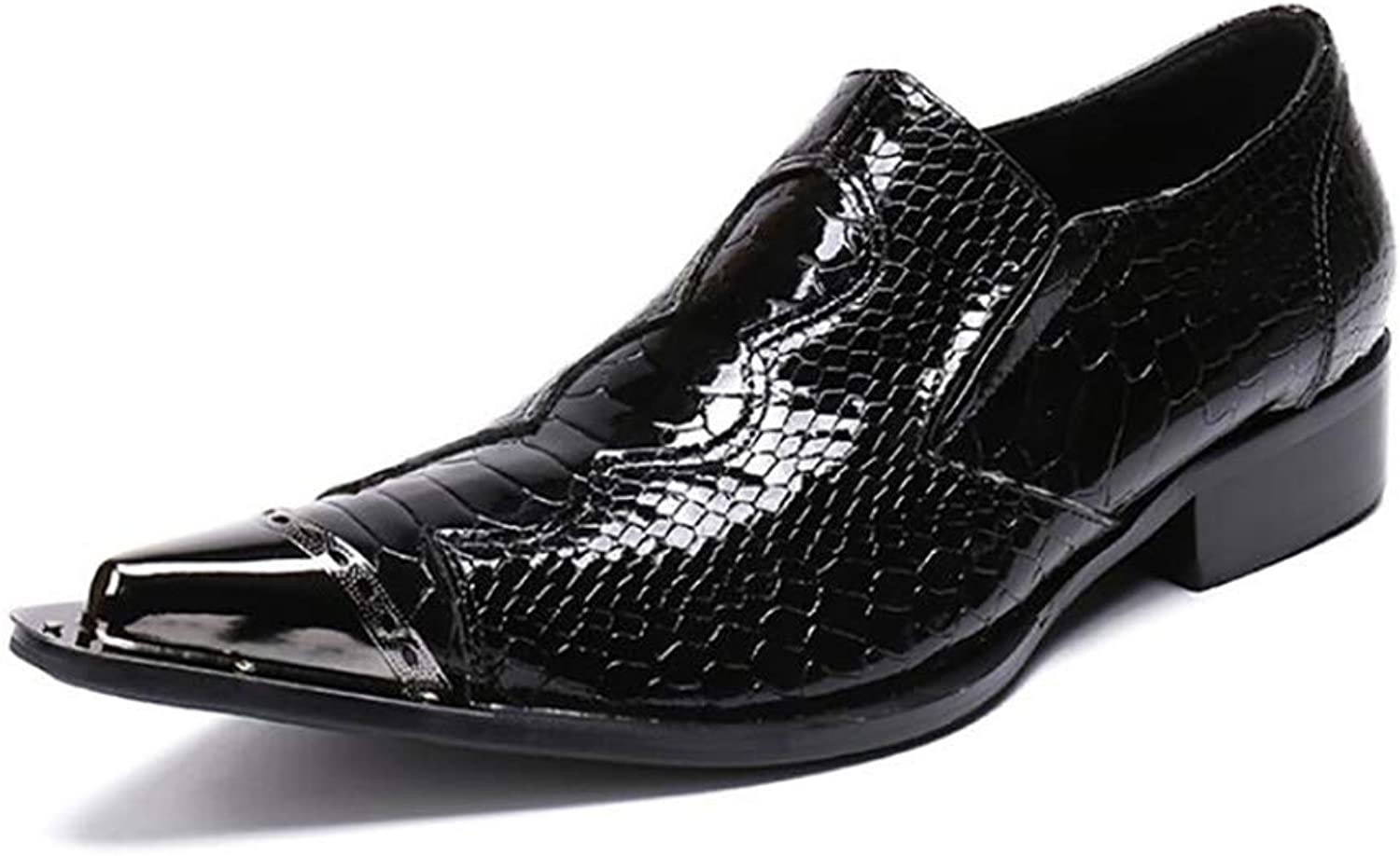 Men's shoes,Spring Fall Pointed shoes, Business Formal Dress shoes, Fashion Wedding shoes, Party & Evening (color   Black, Size   40)