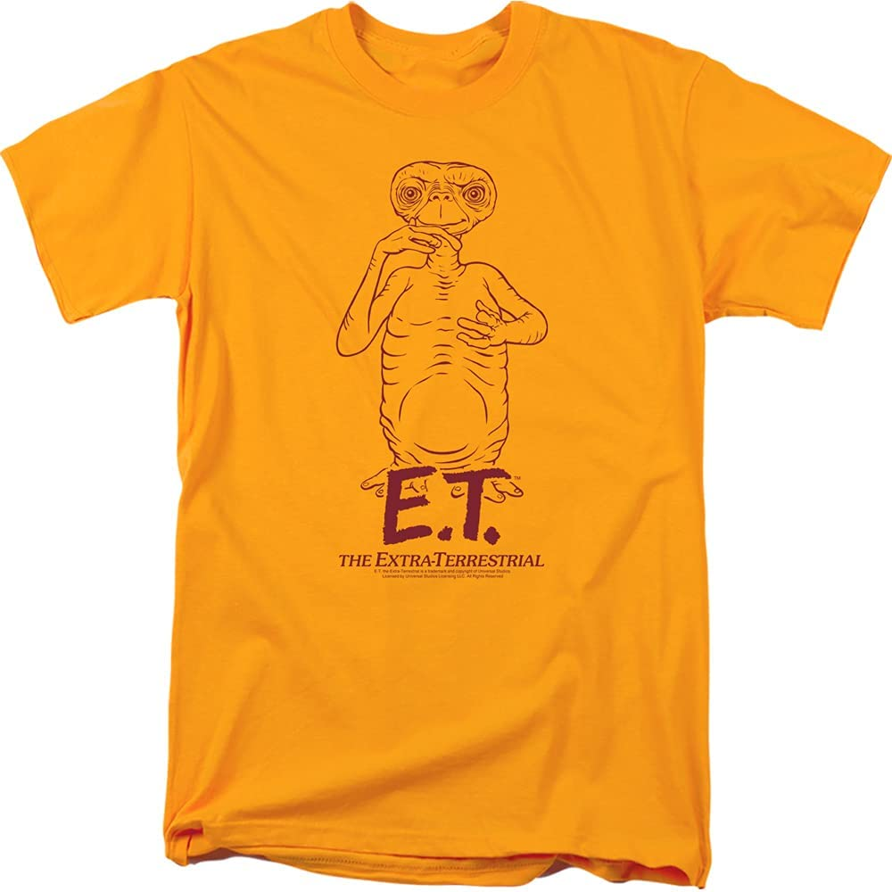 Trevco Cheap Men's Et The E.t. Portrait T-Shirt Movie Easy-to-use