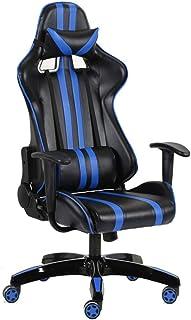 LIZANAN Ergonómica ejecutiva Silla de Escritorio - Respaldo Alto de Cuero ergonómica Silla de Escritorio (Color: Color de Imagen, tamaño: 73X73X120CM) Oficina
